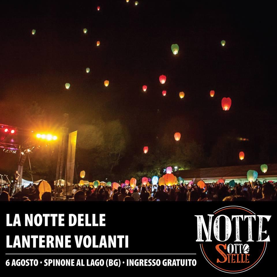 la notte delle lanterne a Spinone Bg