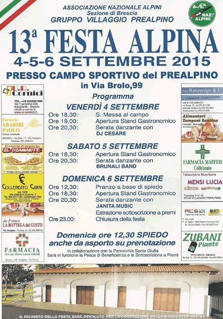 13 Festa Alpina Villaggio Prealpino
