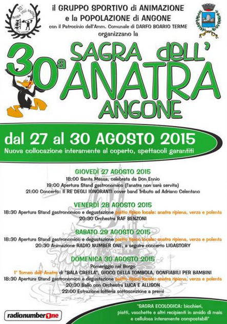 30 Sagra dell'Anatra di Angone di Darfo Boario Terme