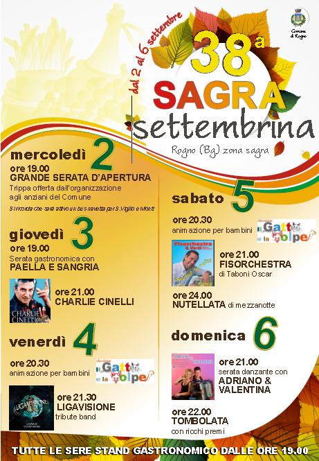 38 Sagra Settembrina a Rogno BG