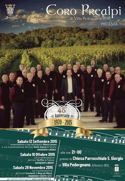 45° Anniversario Coro Prealpi a Villa Pedergnano di Erbusco