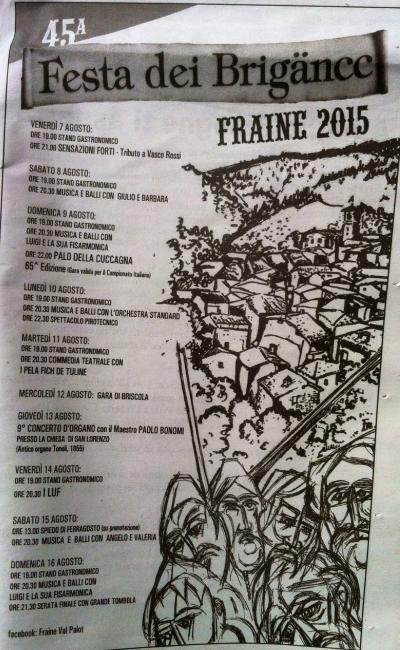 45 Festa dei Brigance in Val Palot