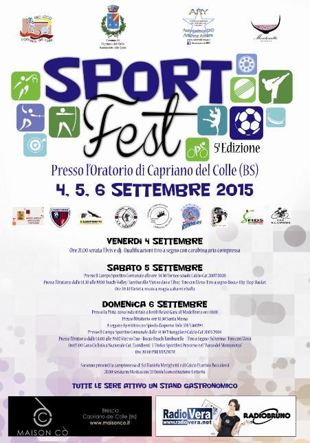 5 Sport Fest a Capriano del Colle