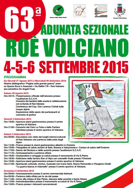 63 Adunata Nazionale Alpini a Roè Volciano