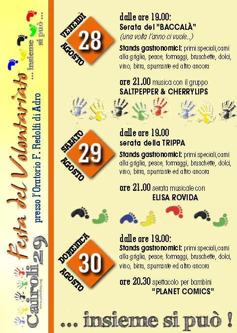 8 Festa del Volontariato  Adro