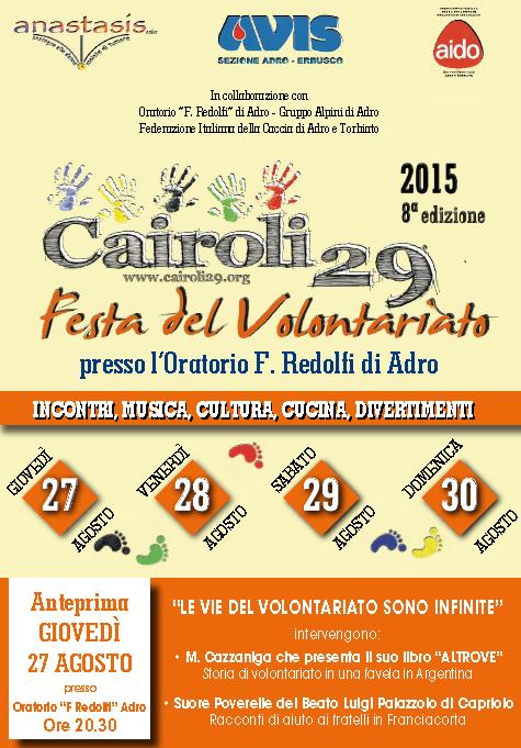 8 Festa del Volontariato a Adro
