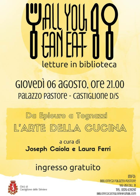 All You Can Eat Letture in Biblioteca a Castiglione dS MN