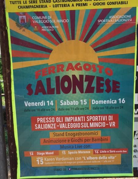 Ferragosto Salionzese a Valeggio sul Mincio VR