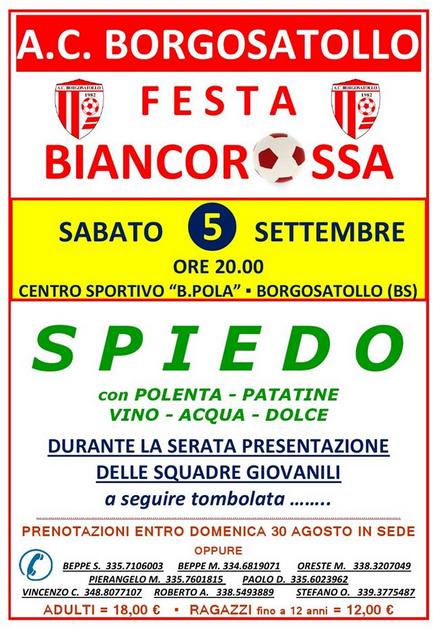 Festa Biancorossa 2015 a Borgosatollo