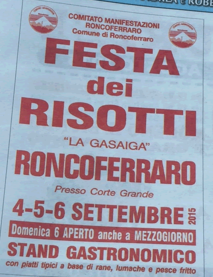 Festa dei Risotti a Roncoferraro MN