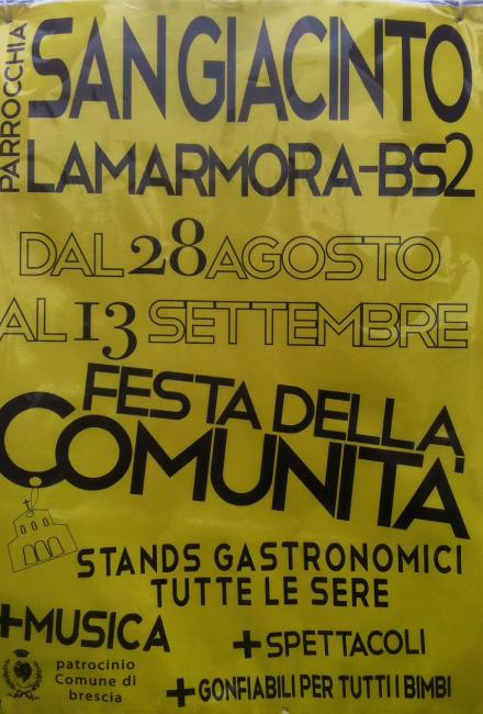 Festa della Comunità a Brescia