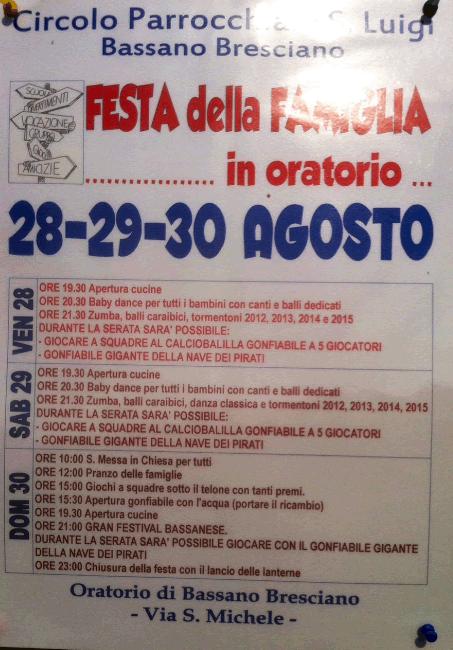 Festa della Famiglia a Bassano Bresciano