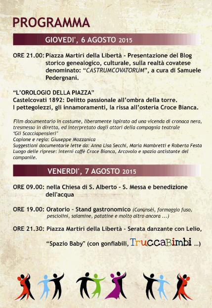 Festa di S. Alberto 2015 a Castelcovati