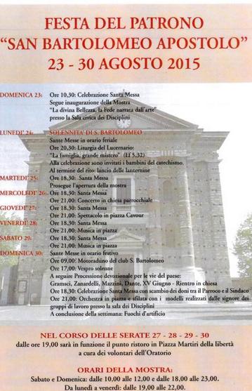 Festa di San Bartolomeo Apostolo a Castenedolo