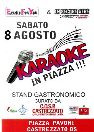 Karaoke in Piazza a Castrezzato