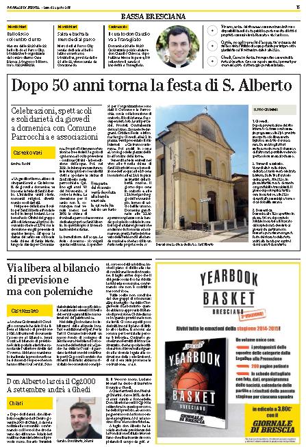 La Festa di S. Alberto 2015 a Castelcovati