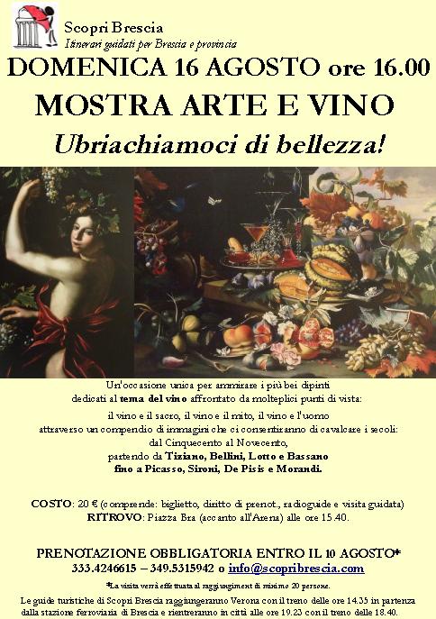 Mostra Arte e Vino con Scopri Brescia