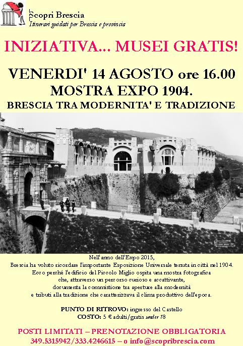Mostra Expo 1904 con Scopri Brescia