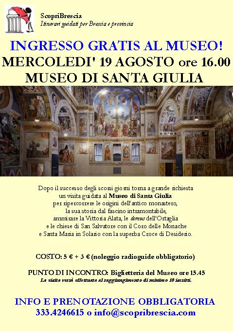 Museo di Santa Giulia con Scopri Brescia