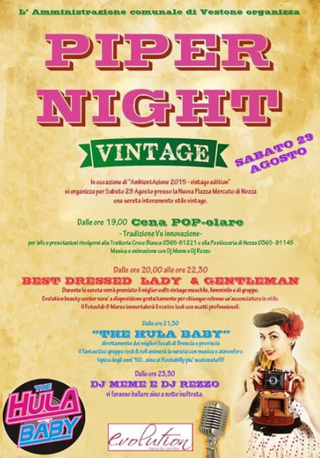 Piper Night Vintage a Vestone