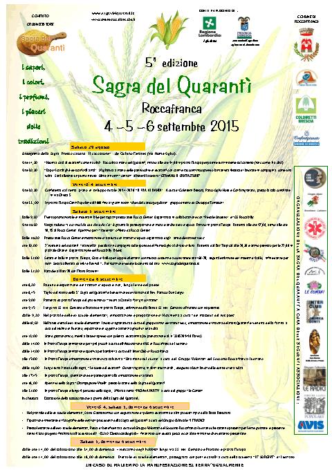 Sagra del Quarantì 2015 a Roccafranca