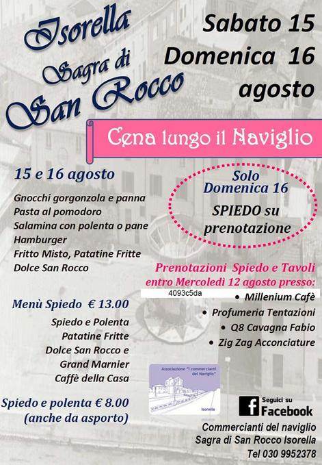Sagra di San Rocco 2015 a Isorella