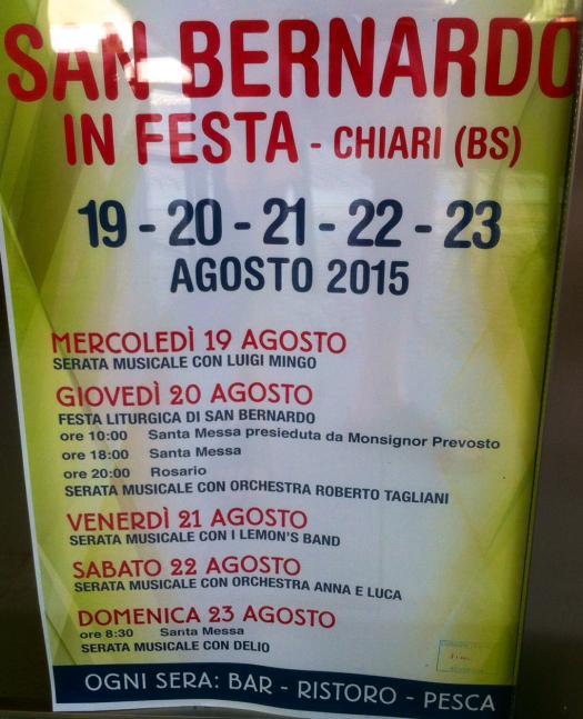 San Bernardo in Festa a Chiari
