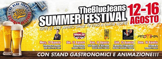 The Blue Jeans Summer Festival 2015 a Castel Mella