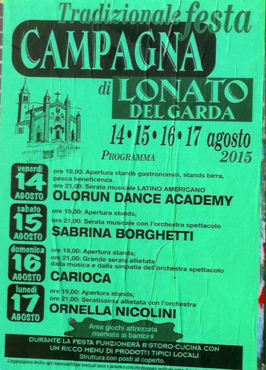 festa campagna di Lonato