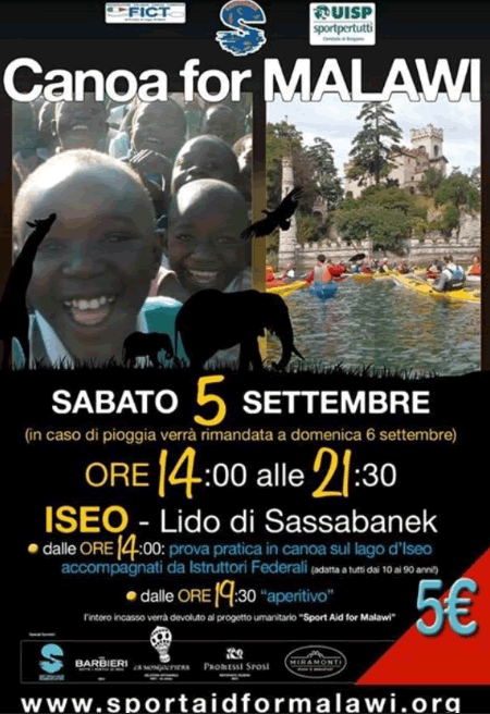 Canoa for Malawi a Iseo