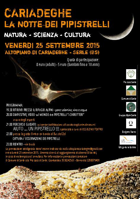Cariadeghe La Notte dei Pipistrelli 2015 a Serle