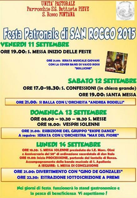 Festa Patronale di San Rocco a Lumezzane