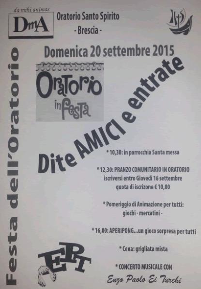 Festa dell'Oratorio Santo Spirito a Brescia