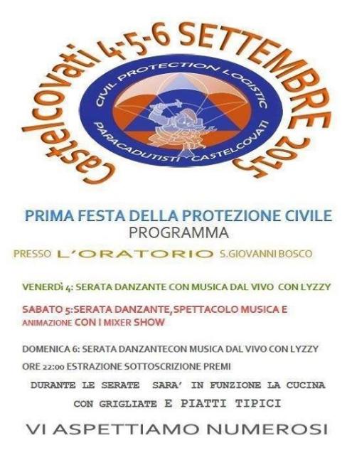 Festa della Protezione Civile a Castecovati