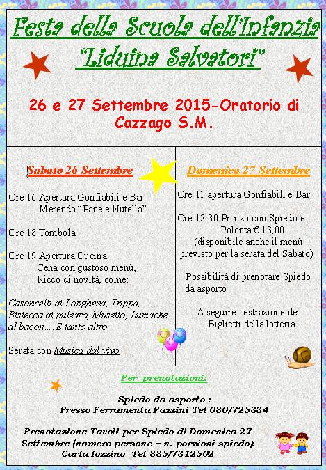 Festa della Scuola dell'Infanzia a Cazzago San Martino