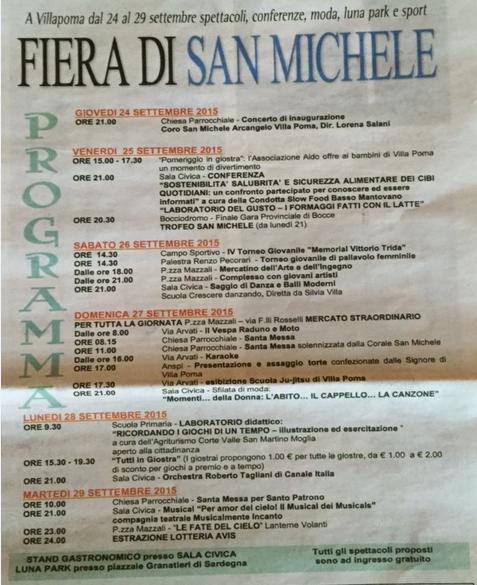 Fiera di San Michele a Villapoma MN