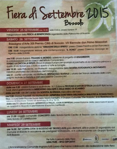 Fiera di Settembre a Bozzolo MN