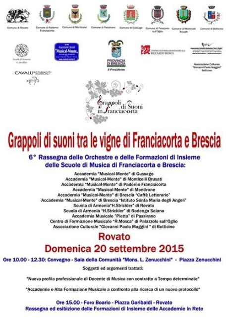 Grappoli di Suoni tra le Vigne di Franciacorta e Brescia