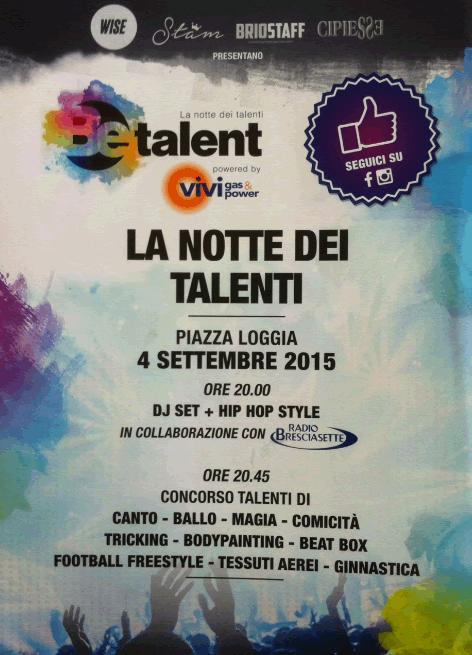 La Notte dei Talenti a Brescia
