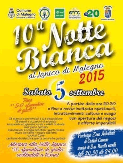 Notte Bianca Malegno