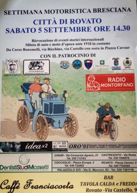 Settimana Motoristica Bresciana a Rovato