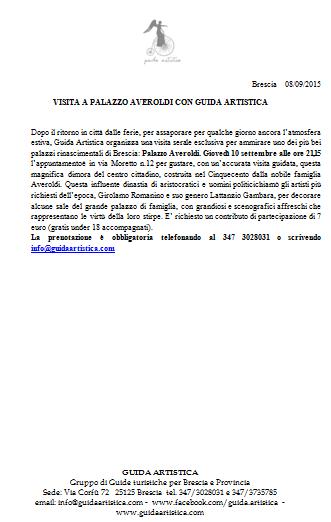 Visita a Palazzo Averoldi