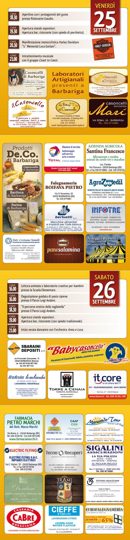 programma fiera casoncello 2015