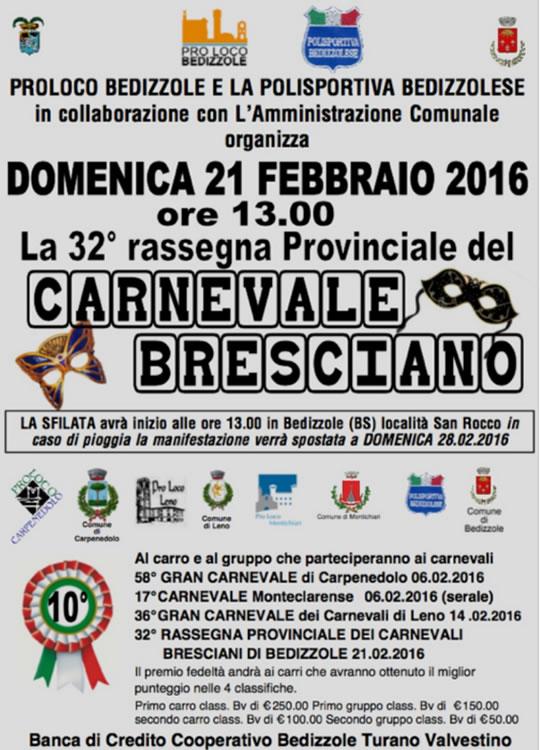 32 Carnevale Bresciano a Bedizzole