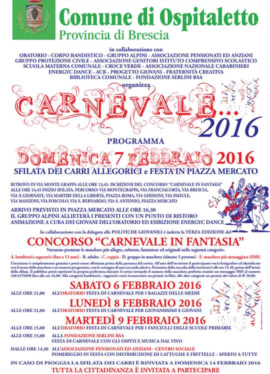 Carnevale 2016 a Ospitaletto