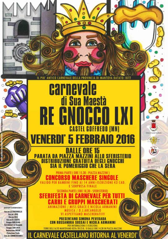 Carnevale di Sua Maestà Re Gnocco LXI a Castel Goffredo MN
