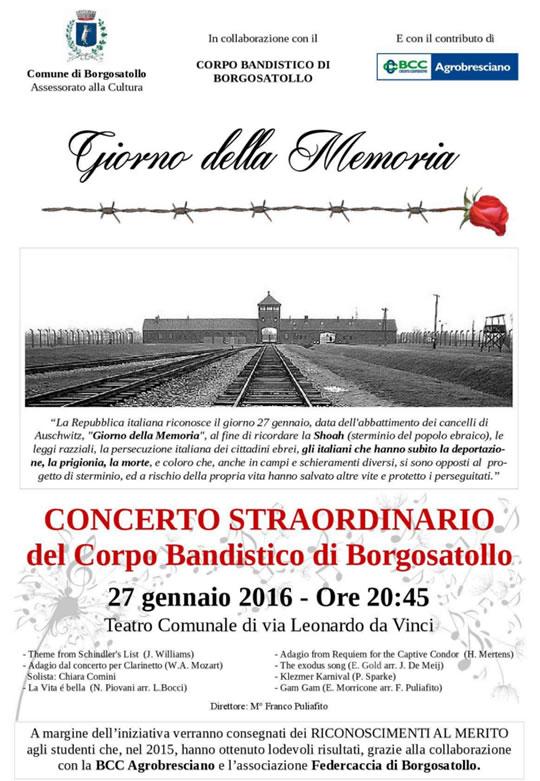 Concerto per il Giorno della Memoria a Borgosatollo