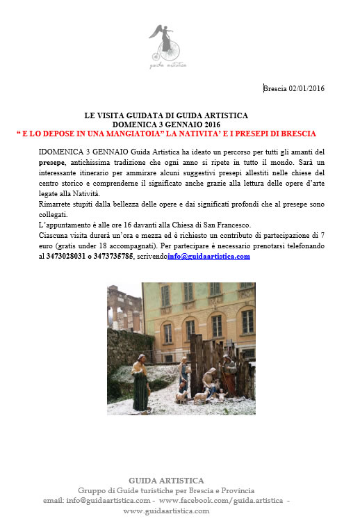 I Presepi di Brescia con Guida Artistica