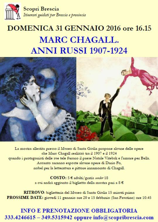 Marc Chagall con Scoprii Brescia