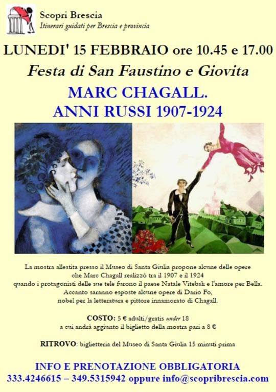 Marc Chagall con le guide di Scopri Brescia